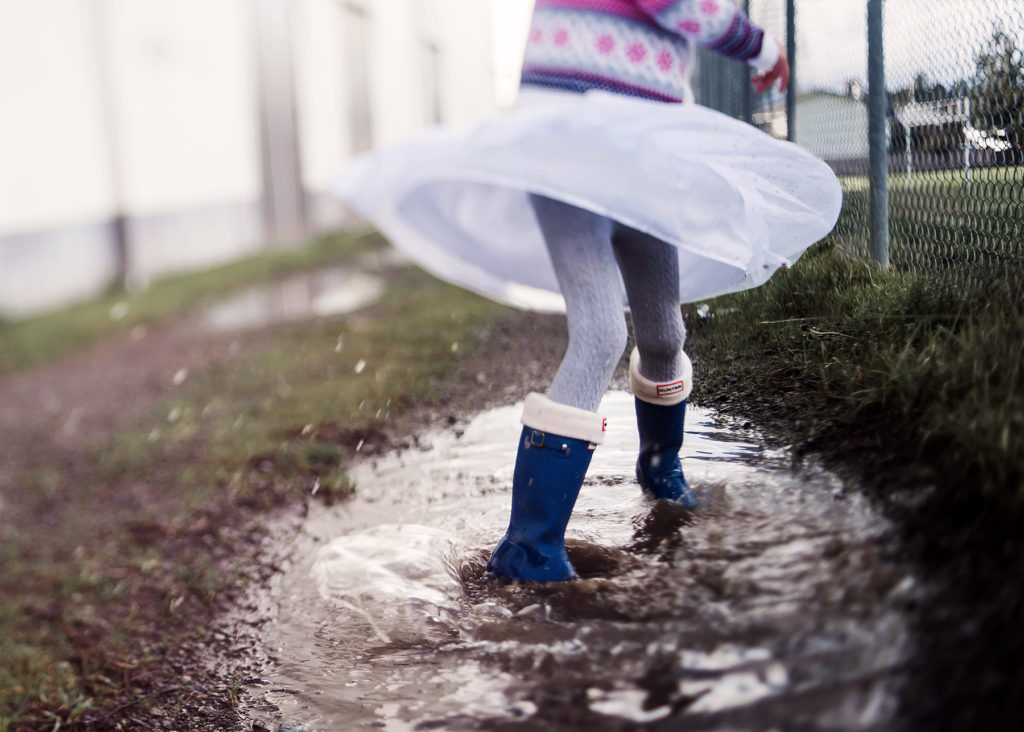 freelensing skirt and rain boots
