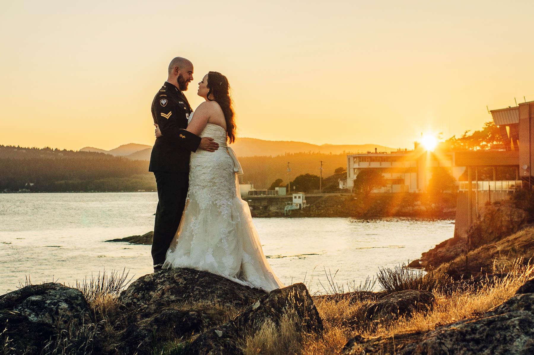 wedding sunset portrait