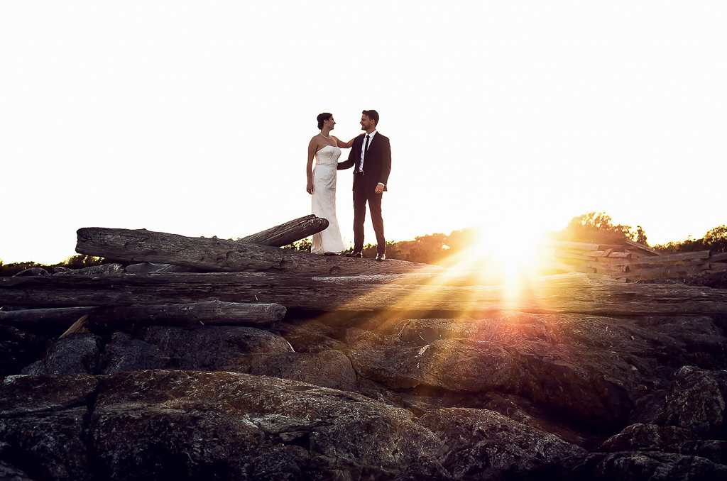 westcoast weddings sunset driftwood victoria bc