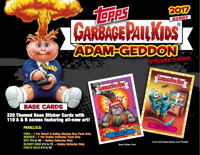 WRAPPER COMPLETE SET 220 CARDS 2015 GARBAGE PAIL KIDS 30TH ANNIVERSARY