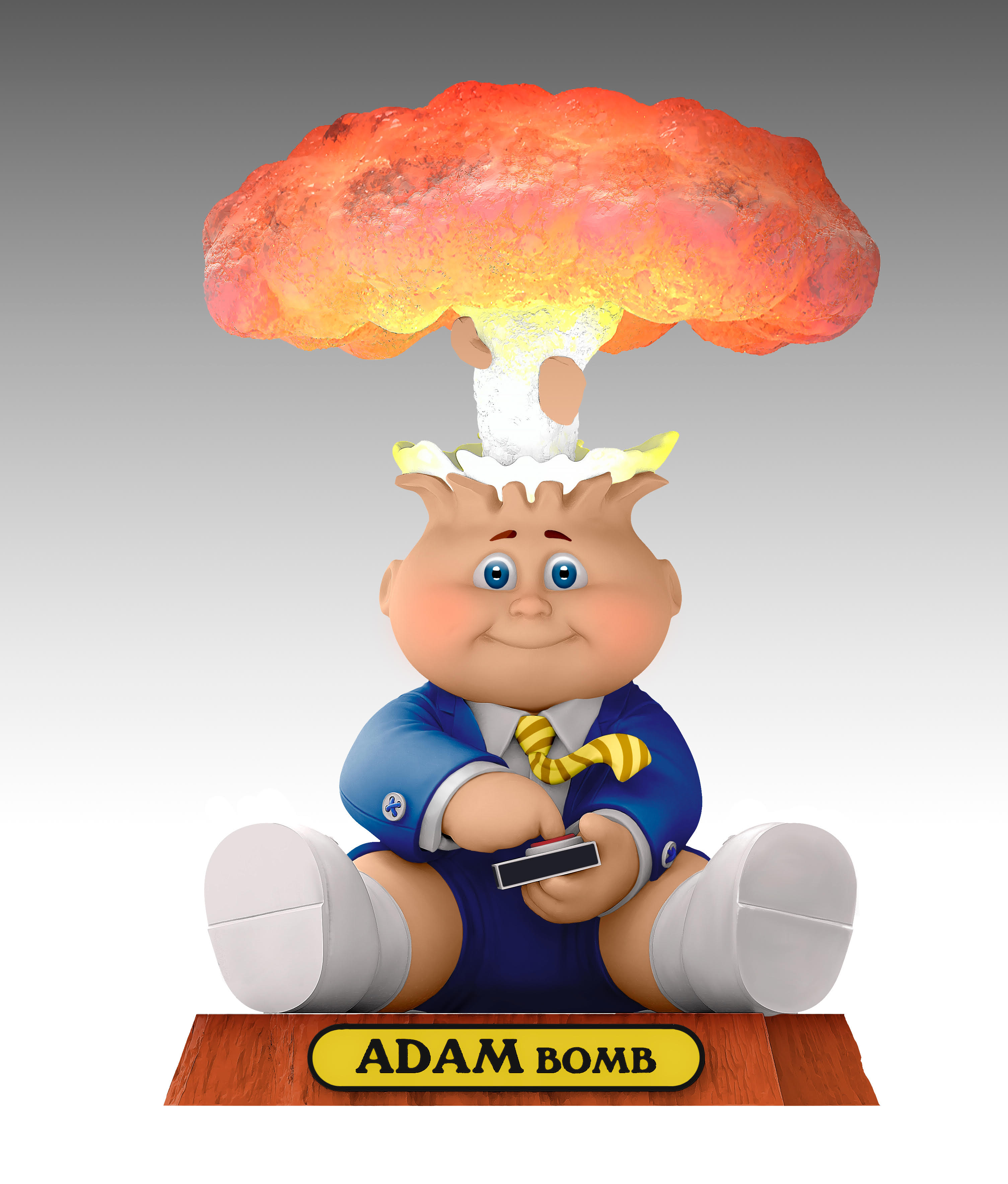 Garbage Pail Kids 80th Topps Anniversary Adam Bomb art card 30 years promo