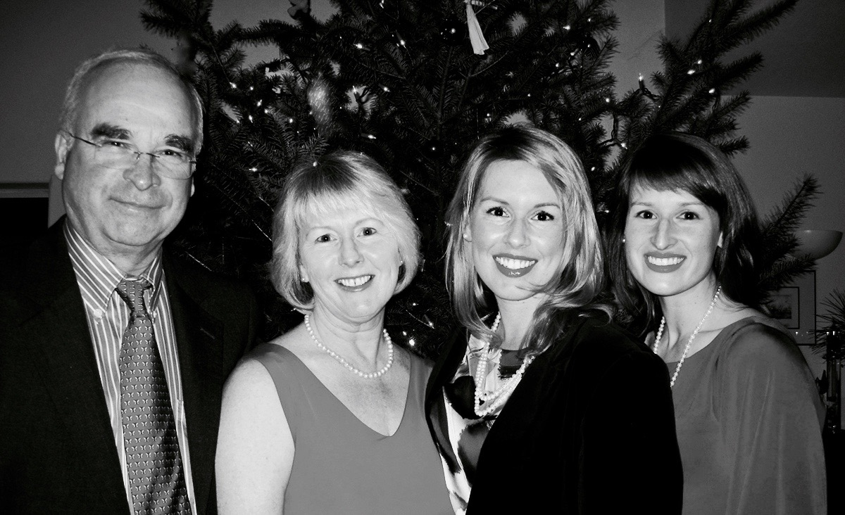 Christmas 2011. Frank, Angie, Nicolette, Claire Mueller