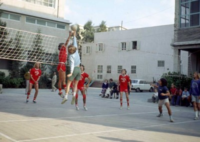 1972 Volleyball  - Ricardo Baca on right
