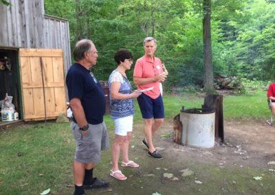 From Left - Ron Pollock, Mary Beth Neely, Steve Jamison - at the Stultz Farm, Saturday July 22, 2017