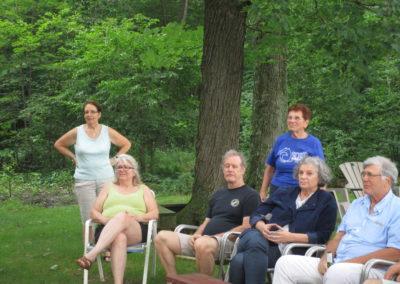 Picnic Dinner - From left - Patricia Jamison, Merrianne McGill, Gib McGill, Jean Stultz, Ann Meloy, Kirk Lindly