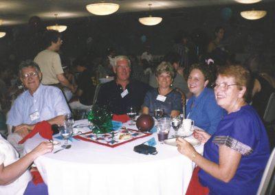 George Meloy, Al, Gloria Stultz, Laura Clay, Jean Stultz - Saturday night banquet