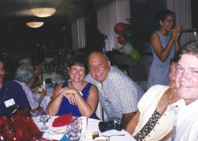 Greg W. , Len Millison & his wife, Libbie, Cheryl, Ken McCuen.  Background - Jane Meloy's daughter