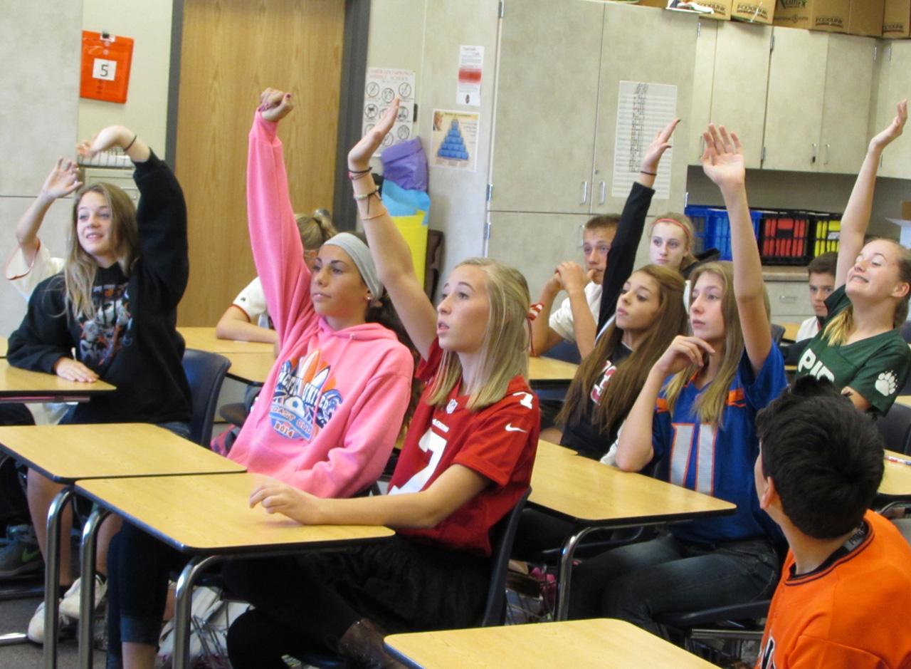 Kids participate in TEACH
