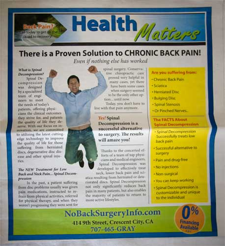 Dr. Gray Chiropractic info tab