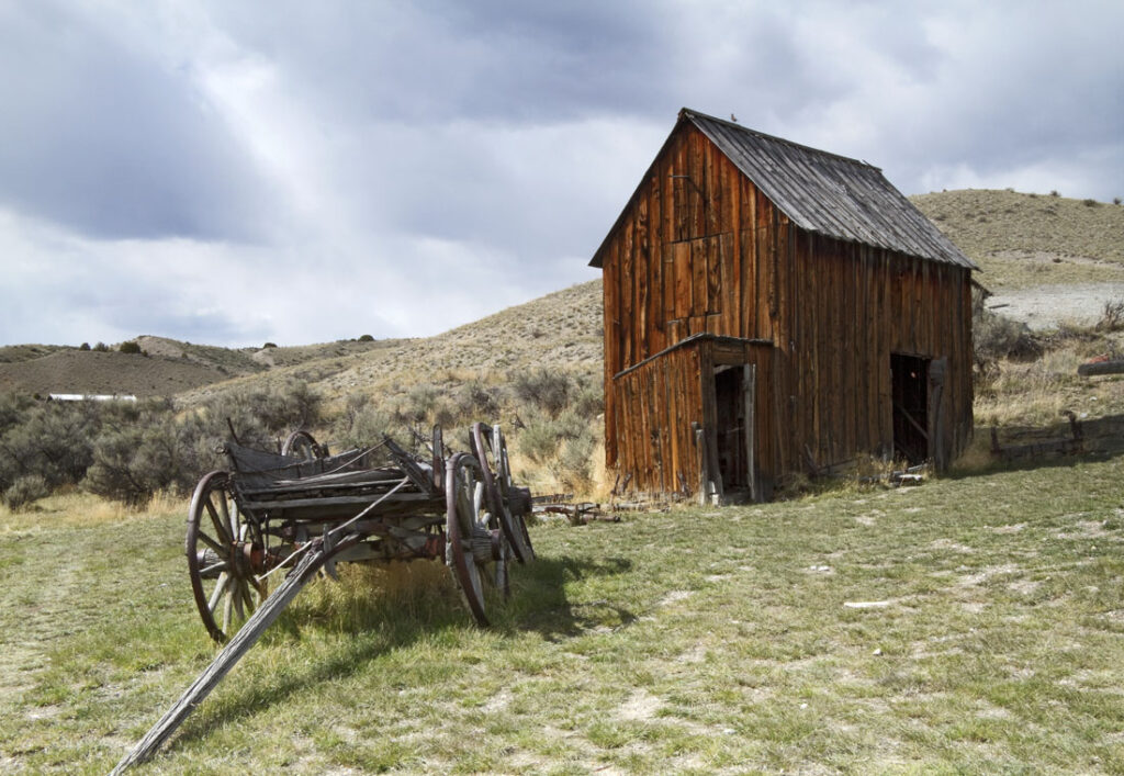 Old Barn and Carriage