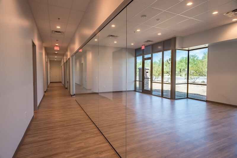 <p>This tenant improvement for a behavioral health clinic was completed for a local family-owned development company and was one of seven projects completed in the last 10 years. The original project was 7,600 SF, and has grown over the years to include multiple adjacent suites of 4,500 SF each to […]</p>