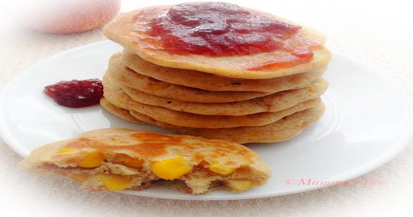 corn-filled pancake