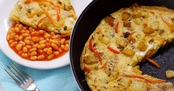 potato and plantain frittata
