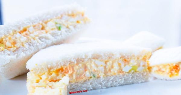 simple egg mayo sandwich