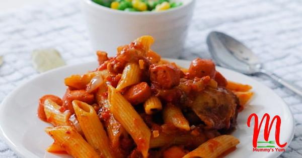 stewed penne pasta
