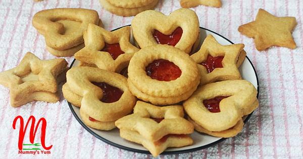 vanilla jam cookies