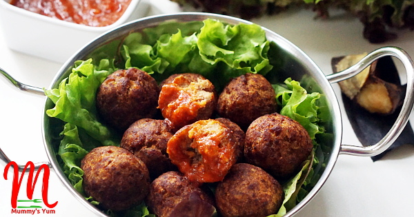 Overripe plantain meets meatballs