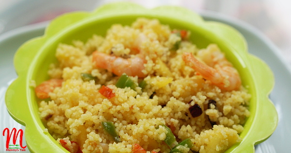 Apple Couscous for toddlers