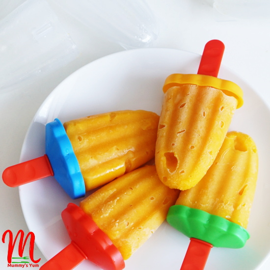 Mango Popsicles simply nutritious for the hot weather