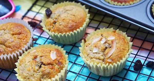 sugar-free raisins and banana muffins