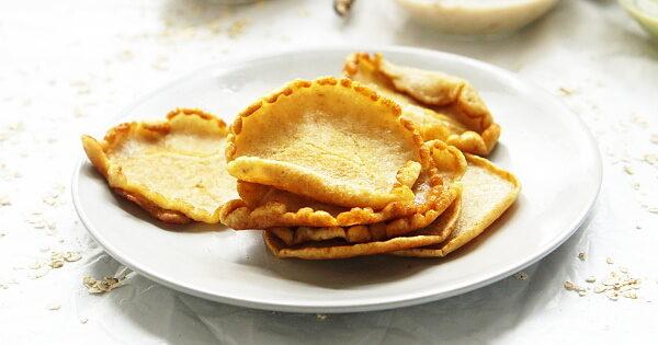 savoury beans and oats pancake