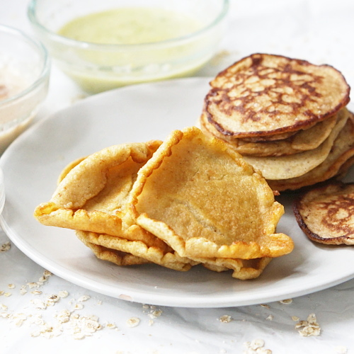 savoury beans and oats pancake