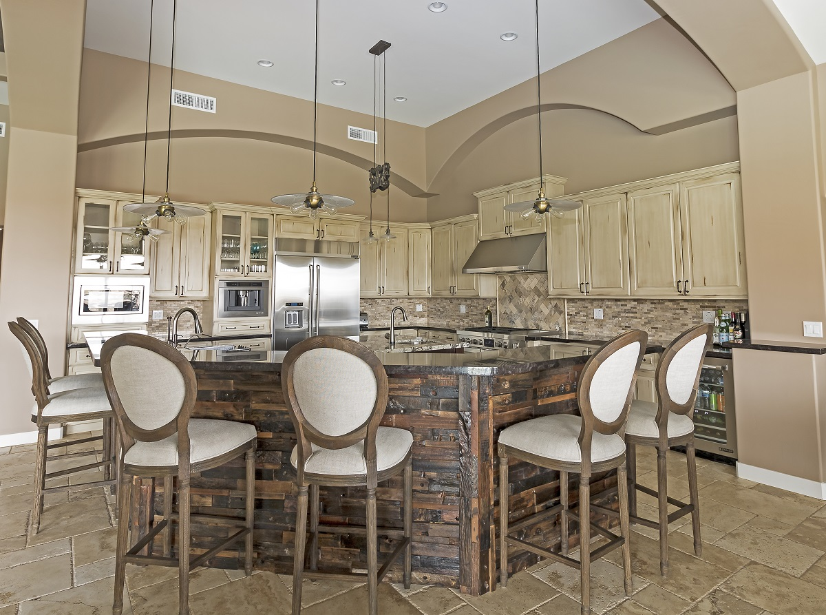 Gold Canyon Mountain Retreat Rustic Contemporary entertainer's dream