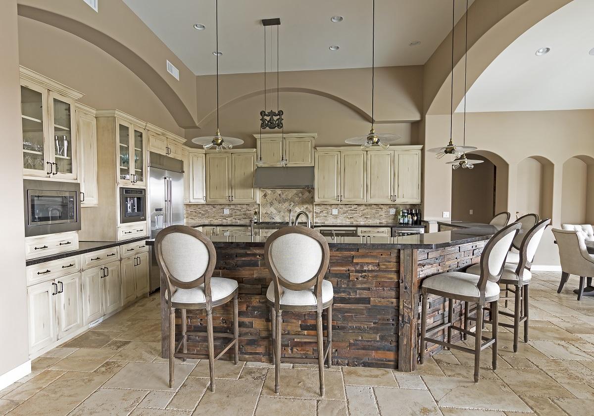 Gold Canyon Mountain Retreat Rustic Contemporary kitchen island