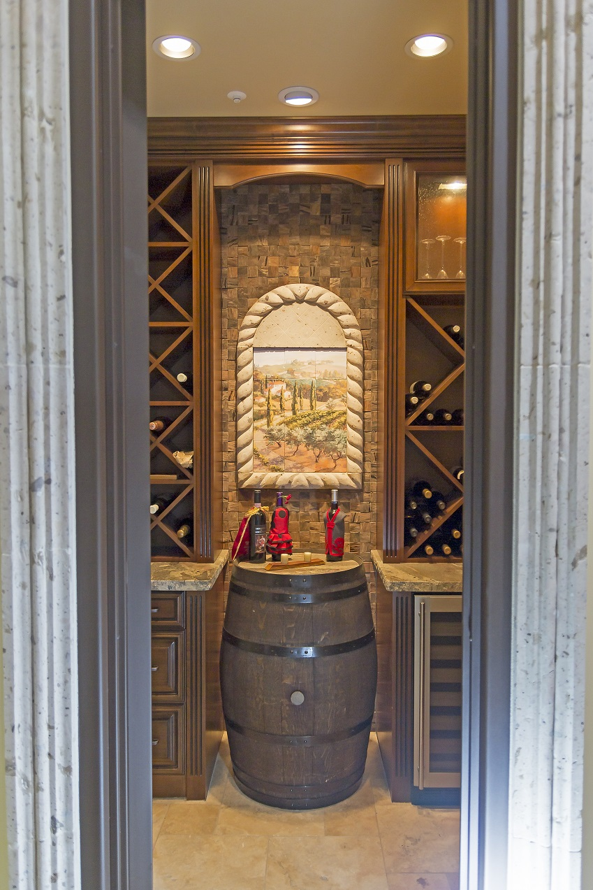 Phoenix Blackstone Custom Transitional custom wine cellar