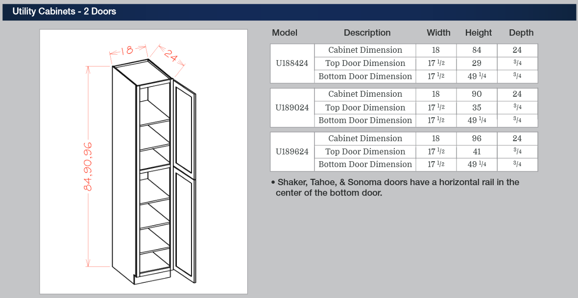 Tall Cabinets - Utility Cabinets - 2 Doors