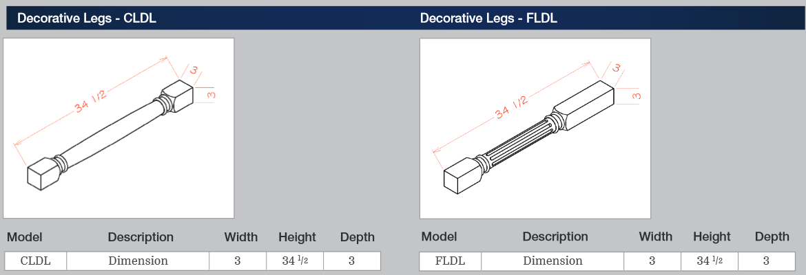 Decorative Legs