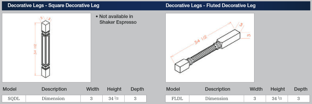 decorative legs sqdl