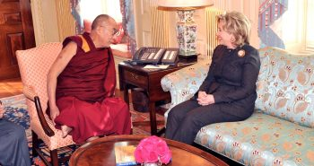 Hillary Clinton and Dalai Lama