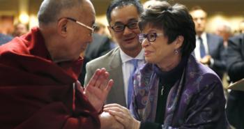Dalai Lama and Valerie Jarrett
