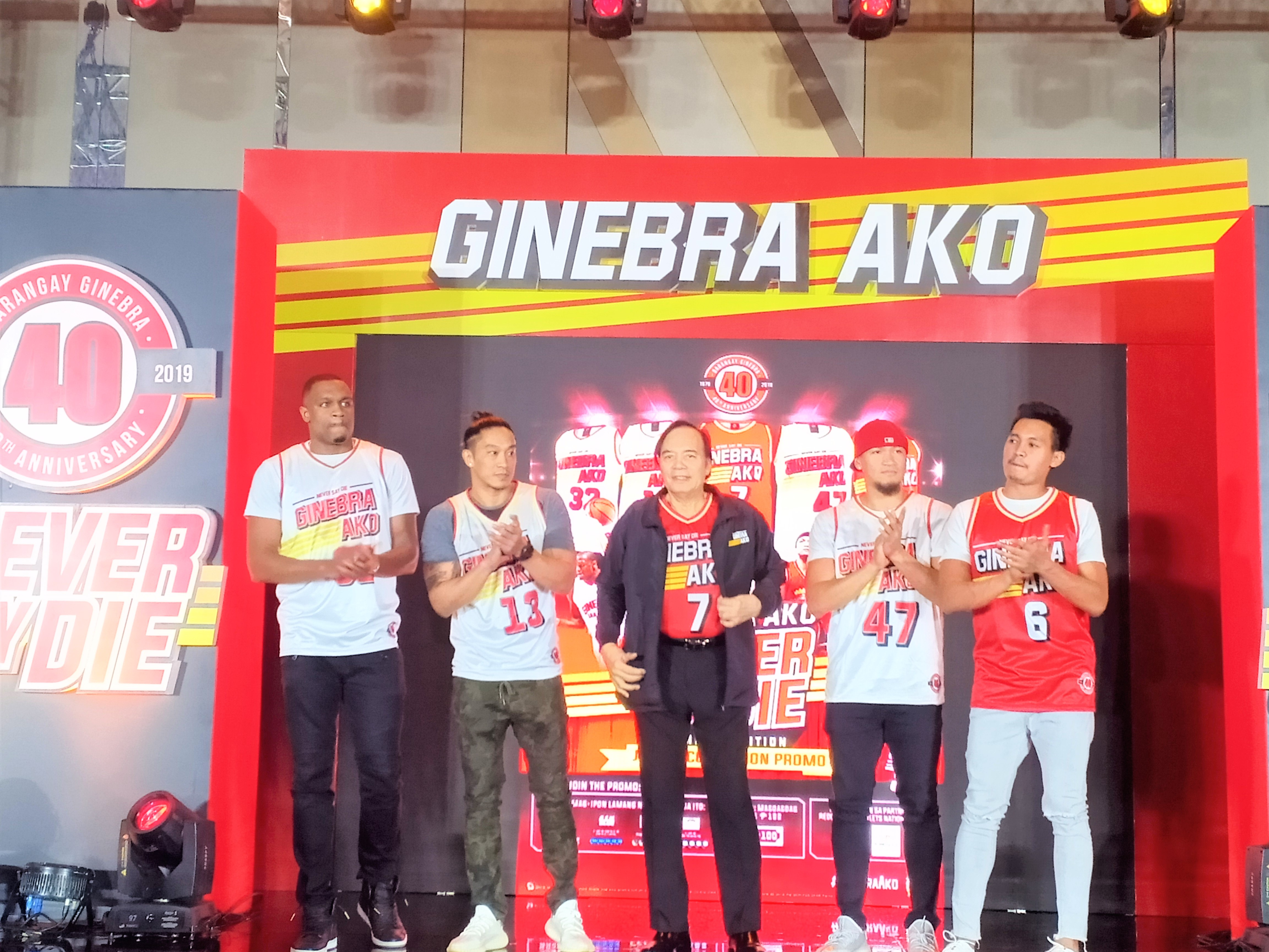 40 Years of Never Say Die: Launching of Barangay Ginebra Jersey