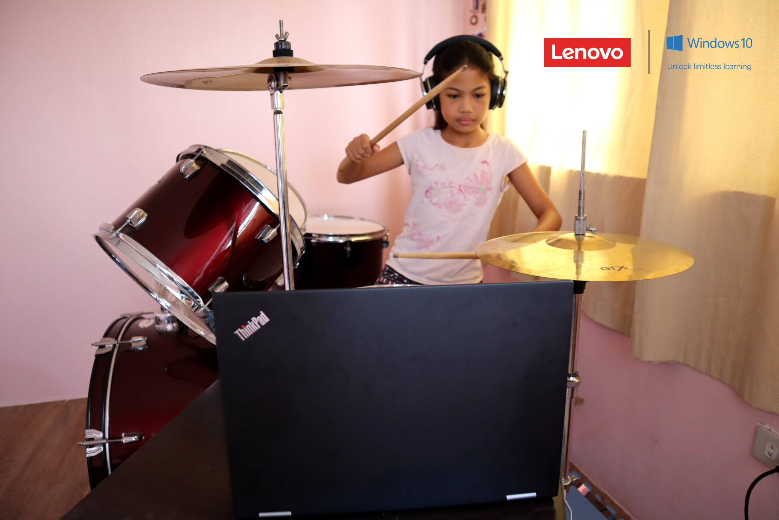 playing drums