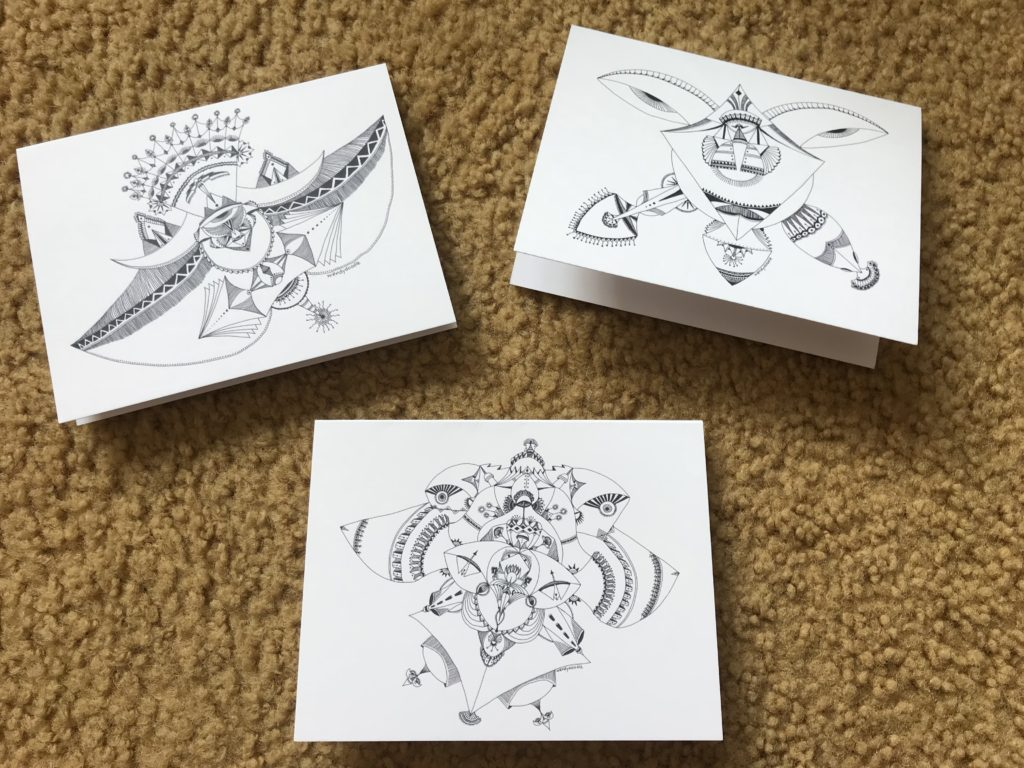 Wendydoodle note cards