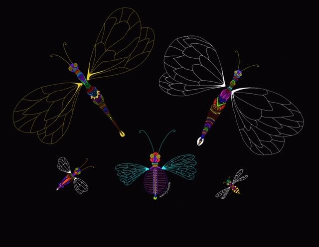 Color on black wendydoodle doodlebugs