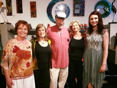 <h5>VGE owners from left, Christine, Joanne, John, SalesExtraordinaire Peggy and Cody. We feel so blessed to have been in the art business for 15 years!</h5>