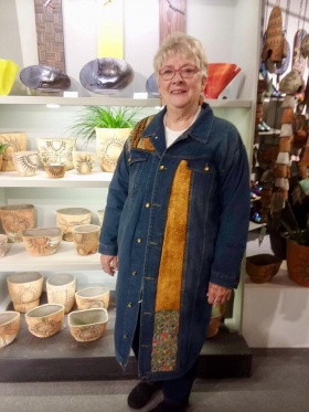 <p>We just had to capture this lovely lady in an amazing jean coat! Front... </p>