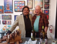 <p>Mick Shepard and our Own John Lutes enjoy serving up the beverages.</p>