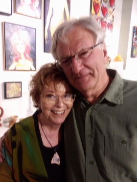 <p>A sweet moment with Christine and Michael Frerking!</p>