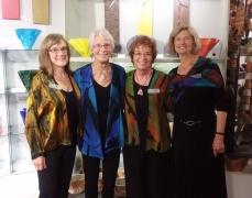 <p>Van Gogh girls Joanne, Christine and Peggy wearing Peggotty's beautiful artwear. </p>