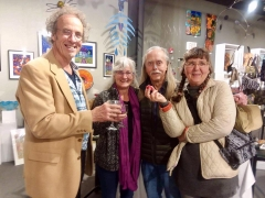 <p>Michael Myers and friends enjoyed a fun evening toasting wine and strawberries! </p>