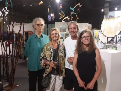 <p>Kay Landis(center) enjoying the excitement with friends Susan, Steve and Susan.</p>