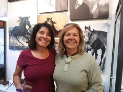 <p>Our dedicated reception goers, Jody Miller, our Equine photographer and her partner, Christy.</p>
