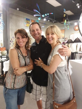 <p>Our jewelry artist, Chelsea Stone with artist Dan McCabe and his lovely wife.</p>