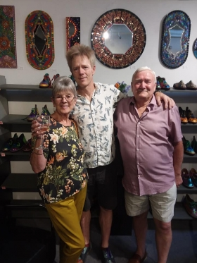 <p>Our own Mark Carter with his parents, Pat and Dereck, visiting from England.</p>