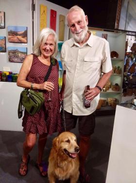 <p>Our dear friends Bonnie and Tim Barnett with their sweet, sweet companion.</p>