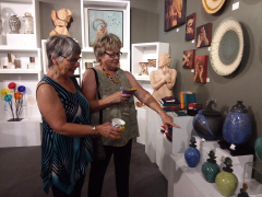 <p>Ann and her friend Gerri loved Myron Whittaker's ceramics.</p>